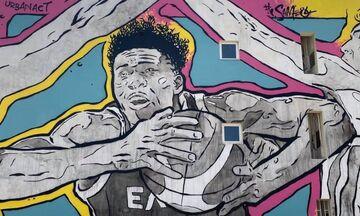 Ο δήμος Αγίας Βαρβάρας «ντύνεται» με γκράφιτι
