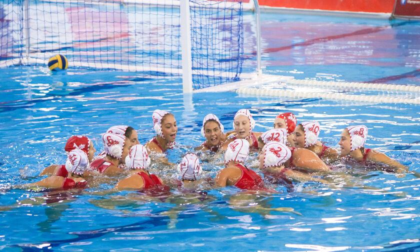 Πόλο: «Καταιγίδα» οι γυναίκες του Ολυμπιακού, 14-7 τη Βουλιαγμένη και πλεονέκτημα έδρας