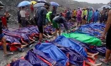 Μιανμάρ: Κατολίσθηση προκάλεσε τον θάνατο 162 εργατών σε ορυχείο (vid)