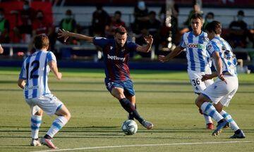 La Liga: Υπόθεση 16 λεπτών το Λεβάντε - Ρεάλ Σοσιεδάδ  (highlights)