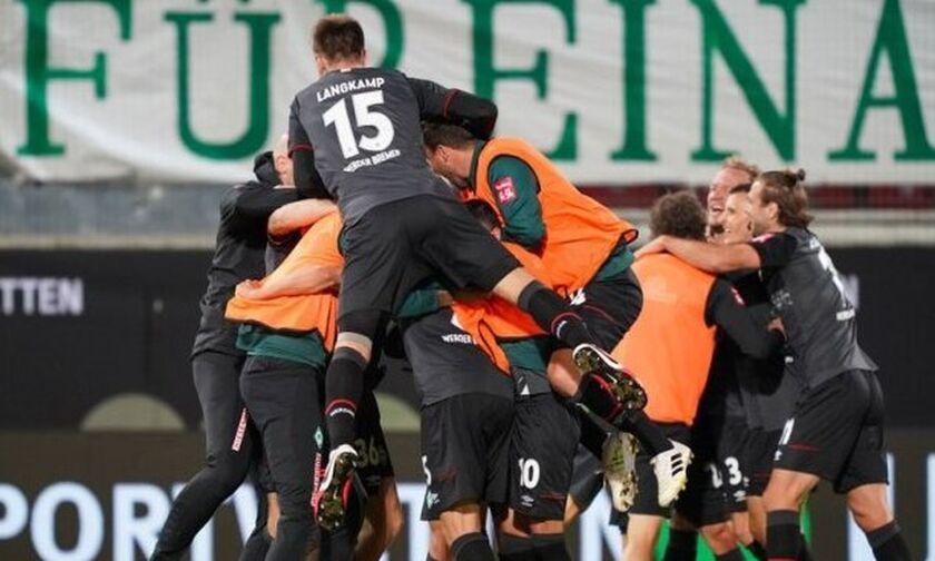 Bundesliga: Σώθηκε (στα μπαράζ και με το εκτός έδρας γκολ) η Βέρντερ Βρέμης!