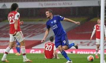 Premier League: Ο Βάρντι γλίτωσε την Λέστερ, 1-1 με την Άρσεναλ (highlights)