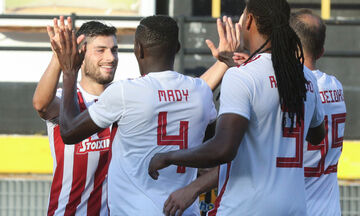 Άρης - Ολυμπιακός: Το γκολ του Μασούρα για το 0-1 (vid)