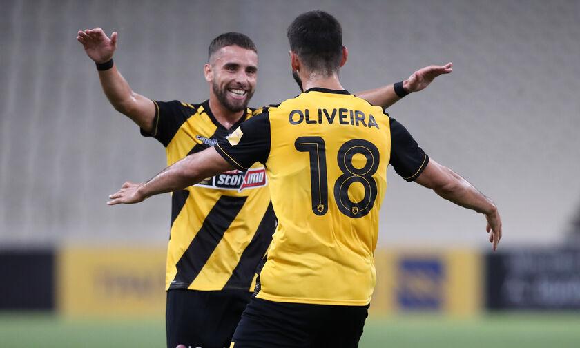 ΑΕΚ - ΟΦΗ: Τα γκολ των Ολιβέιρα και Σβάρνα για το 2-0 (vid)