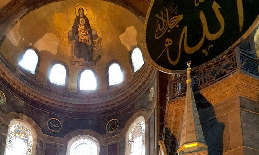 Αγία Σοφία: Οι αγιογραφίες θα καλυφθούν με ειδική τεχνολογία, φωτισμό -Χωρίς παπούτσια οι επισκέπτες