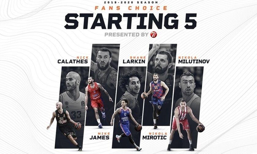 Euroleague: Το κοινό ψήφισε- Ο Μιλουτίνοφ στην καλύτερη 5άδα (pics)