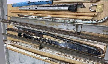 Φυλακές Κορυδαλλού: Βρέθηκαν ναρκωτικά, σιδηρολοστοί, μαχαίρια, σουβλιά και κινητά - Δείτε εικόνες