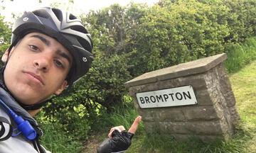 Βόλεϊ: Ταξίδεψε από το Αμπερντίν στα Μελίσσια με το ποδήλατο πρώην παίκτης του Φοίβου Μελισσίων