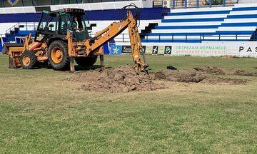 Ιωνικός: Υβριδικός χλοοτάπητας τελευταίας γενιάς στο γήπεδο της Νεάπολης