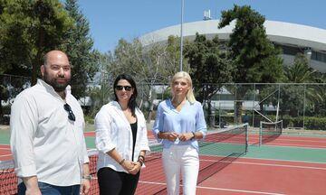 ΣΕΦ: Παραλαβή των δυο γηπέδων τένις από την Περιφέρεια Αττικής (pics)