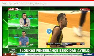 Σλούκας: Πρώτο θέμα στην τουρκική τηλεόραση η αποχώρησή του από τη Φενέρμπαχτσε (vid)