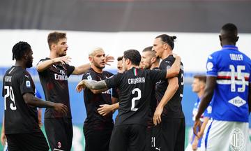 Serie A: Η Μίλαν διέλυσε (1-4) την Σαμπντόρια και «κλείδωσε» το ευρωπαϊκό εισιτήριο (βαθμολογία)
