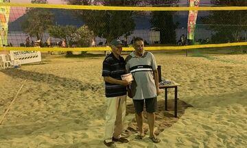 Νίκος Καλογεράς: Παίκτης Beach Volley ετών 83
