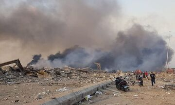 Ισχυρές εκρήξεις στη Βηρυτό (vid)