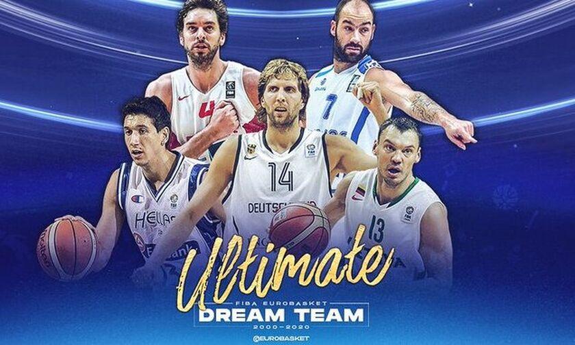 Ευρωμπάσκετ: Σπανούλης και Διαμαντίδης στην καλύτερη πεντάδα της εικοσαετίας (pic)
