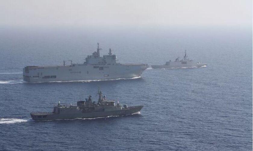ΓΕΕΘΑ: Ελληνογαλλική ναυτική άσκηση σε ανατολική Μεσόγειο και στην παράνομη NAVTEX