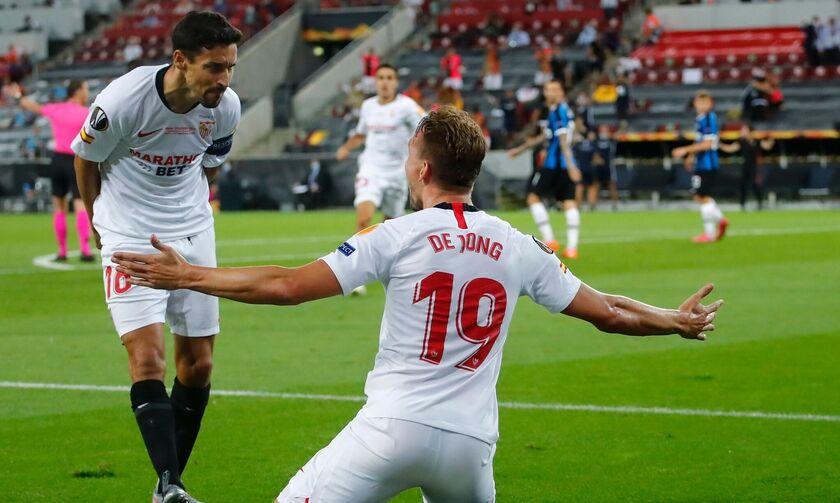 Σεβίλη - Ίντερ: Το γκολ του Ντε Γιονγκ για το 2-1 (vid)