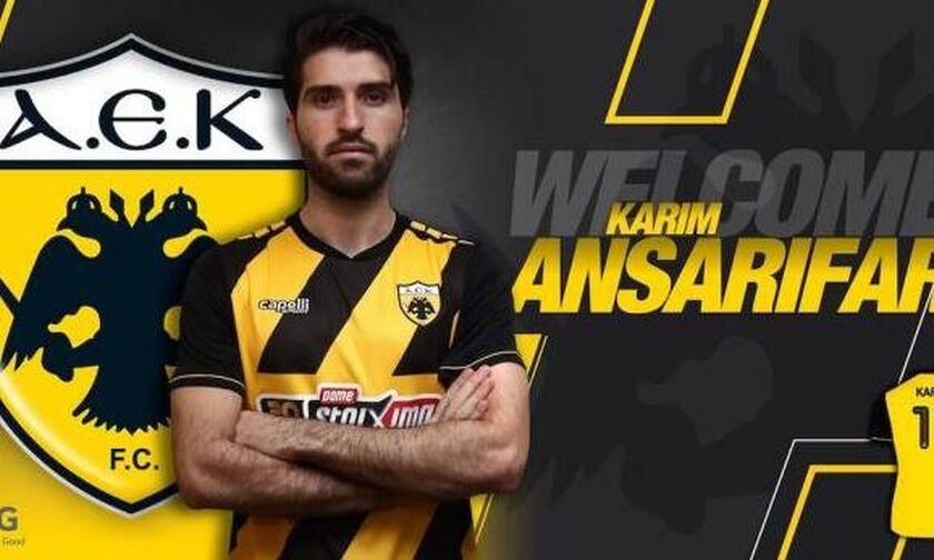 Επίσημο: Παίκτης της ΑΕΚ ο Ανσαριφάρντ (pic)