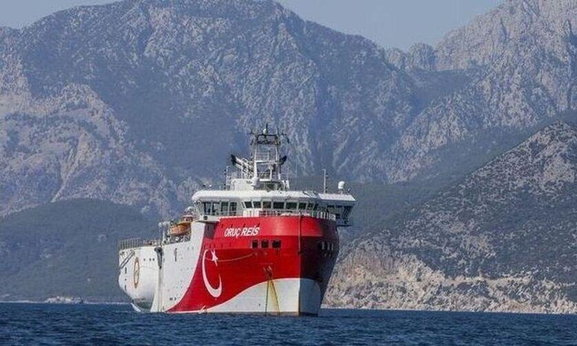 Σε Ελληνική υφαλοκρηπίδα και η νέα NAVTEX για το Oruc Reis