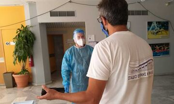 Κλιμάκιο του ΕΟΔΥ έκανε μοριακούς ελέγχους σε εργαζόμενους του ΣΕΦ