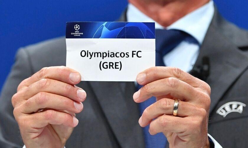 LIVE Streaming: H κλήρωση του Ολυμπιακού στο Champions League (13:00)