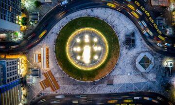 Όταν κοιτάς από ψηλά... Το μαγευτικό σούρουπο στην Ομόνοια (pics)