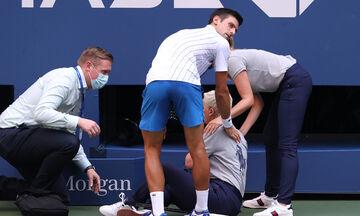 Τζόκοβιτς: Κτύπησε με μπάλα την επόπτρια γραμμών και… αποβλήθηκε (pics-vid)