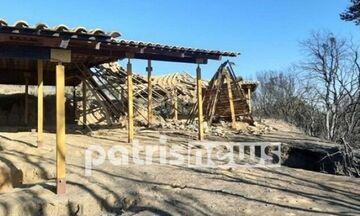 Ηλεία: Κάηκε το Μυκηναϊκό Νεκροταφείο