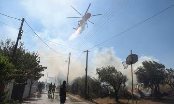 Πυρκαγιά στην Αρτέμιδα, εκκενώθηκαν σπίτια!