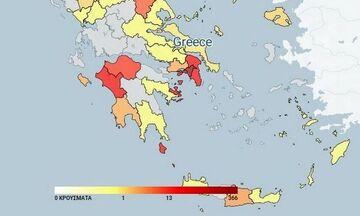 Κατανομή κρουσμάτων κορονοϊού (10/9): Τα 133 στην Αττική, τα 70 στην Πέλλα