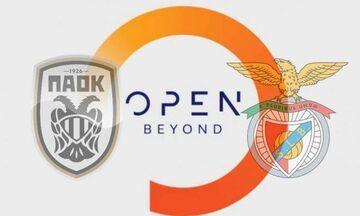 Στο OPEN TV το παιχνίδι του ΠΑΟΚ με τη Μπενφίκα