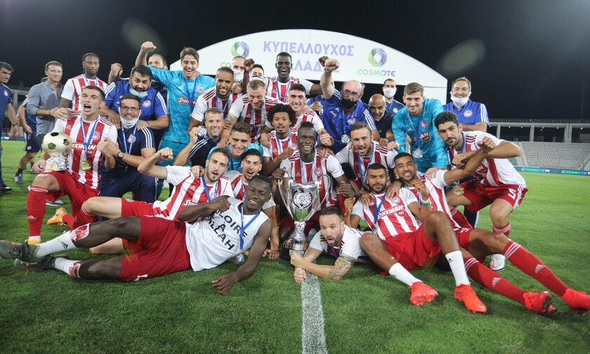 ΑΕΚ – Ολυμπιακός 0-1: Η απονομή του Κυπέλλου Ελλάδας στον νταμπλούχο Ολυμπιακό (vid)