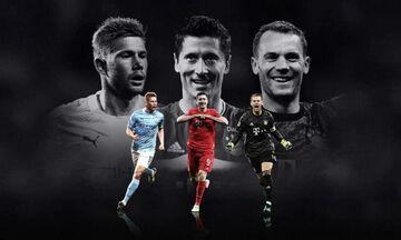 UEFA: Ένας από Λεβαντόβσκι, Νόιερ, Ντε Μπρoύινε κορυφαίος της περασμένης σεζόν στα Ευρωπαϊκά Κύπελλα