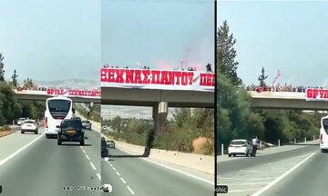 Υποδοχή Ολυμπιακού στην Κύπρο: «Θρύλε μην ξεχνάς, παντού είναι Πειραιάς» (vid)