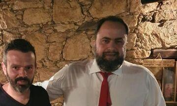 Ο Βαγγέλης Μαρινάκης πριν από το Ομόνοια - Ολυμπιακός (pic)