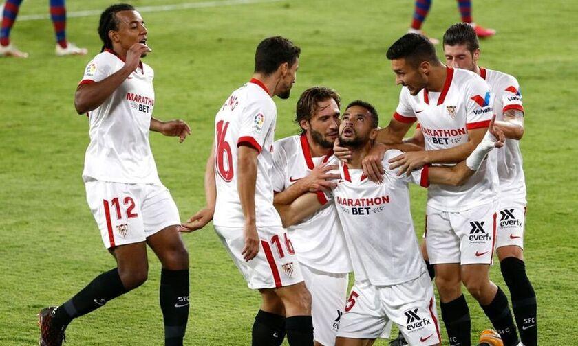La LIga : Λύτρωση για τη Σεβίλη, 3-0 η Μπαρτσελόνα (highlights)