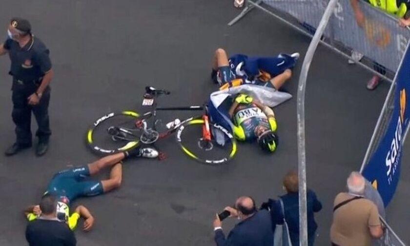 Ποδηλασία: Σοβαρό ατύχημα, λόγω ελικοπτέρου, στον γύρο της Ιταλίας