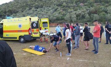 Λαχτάρα με ποδοσφαιριστή που κατέρρευσε στα τοπικά της Αιτωλοακαρνανίας