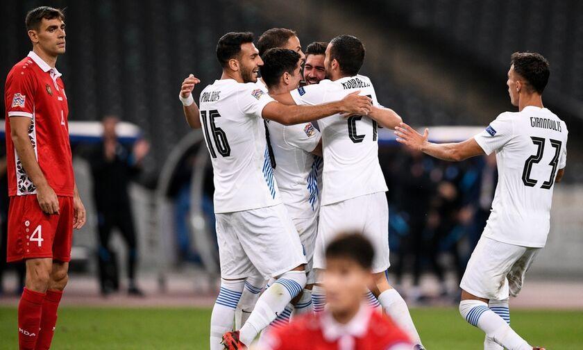 Ελλάδα - Μολδαβία 2-0: Πήρε το τρίποντο η Εθνική