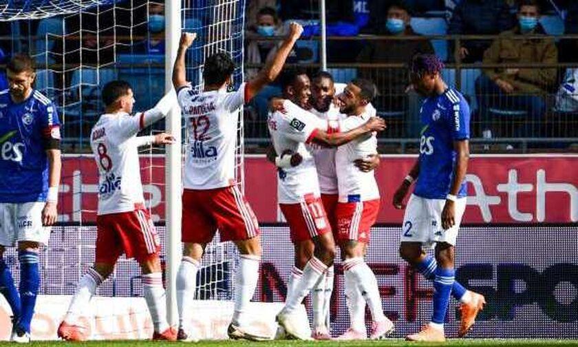 Ligue 1: «Διπλό» (3-2) η Λιόν στο Στρασβούργο, αφού έκανε τα εύκολα δύσκολα (vid)