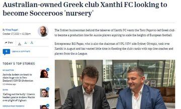Sydney Herald: Ο Αυστραλός ιδιοκτήτης της Ξάνθης, την θέλει γραμμή παραγωγής για παίκτες...