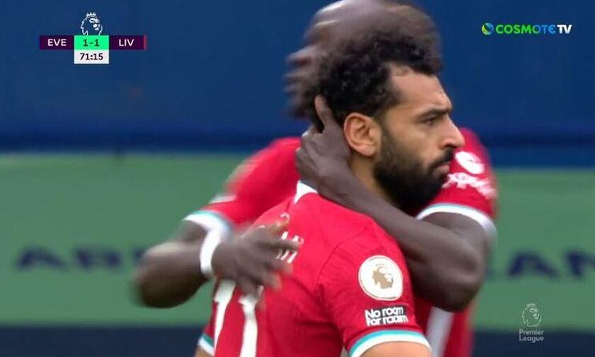 Έβερτον-Λίβερπουλ: Τα γκολ των Σαλάχ, Λιούιν για το 2-2 (vids)