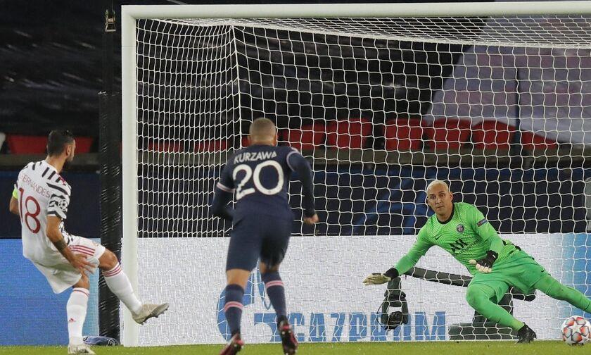 Η Μάντσεστερ Γιουνάιτεντ 0-1 με την Παρί Σεν Ζερμέν με πέναλτι που εκτέλεσε δις ο Φερνάντες (vid)