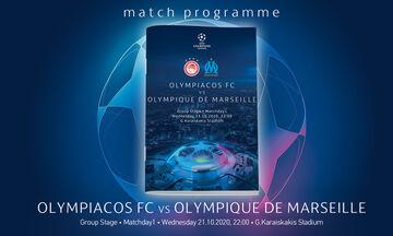 Ολυμπιακός - Μαρσέιγ: Το Match Programme σε ηλεκτρονική μορφή