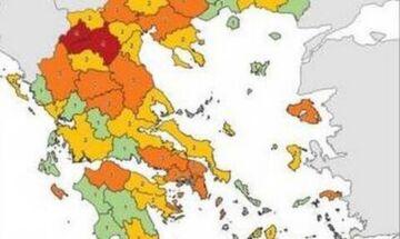 Κορονοϊός: Δείτε αναλυτικά το νέο επιδημιολογικό χάρτη