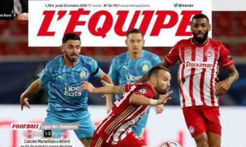Ο Ολυμπιακός πρώτο θέμα στην Equipe: «Ο Βαλμπουενά τιμώρησε τη Μαρσέιγ»