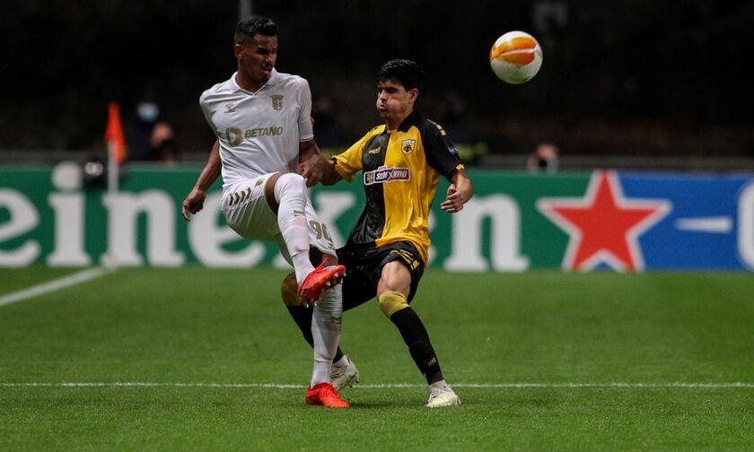 Μπράγκα - ΑΕΚ: Ο Γκαλένο κάνει το 1-0 - Δείτε το γκολ (vid)