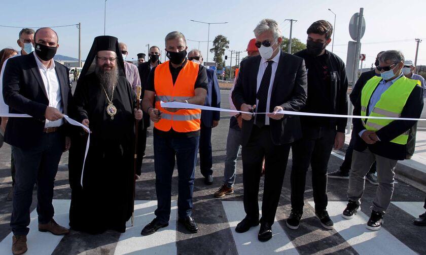 Παραδόθηκε το νέο οδικό τμήμα της Παλιάς Εθνικής Οδού Αθηνών-Θηβών