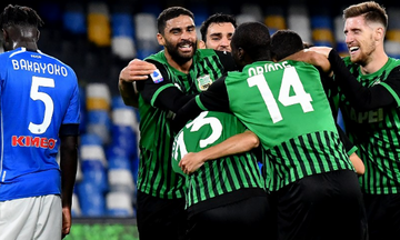 Serie A: Η Σασουόλο άλωσε τη Νάπολι, ο Ρονάλντο «ξύπνησε» τη Γιουβέντους (highlights)