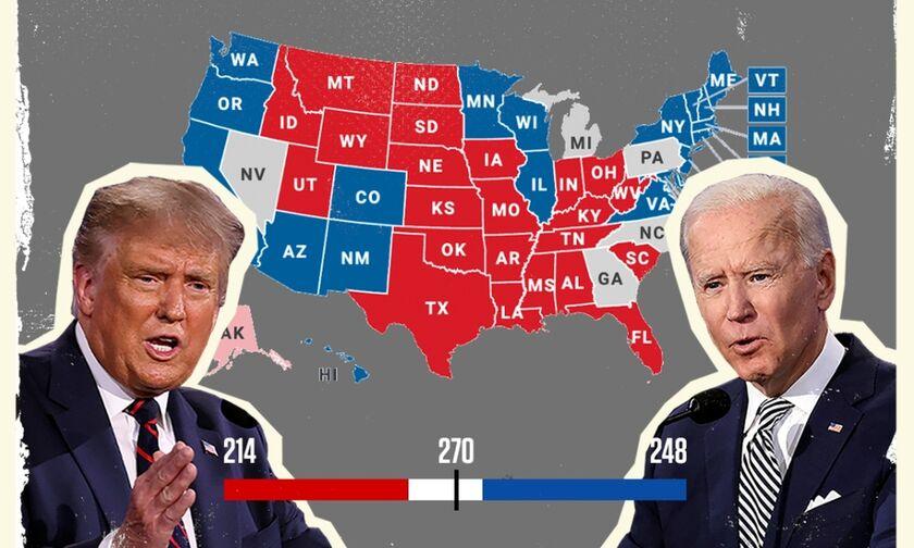 Προεδρικές εκλογές ΗΠΑ: Ο Μπάιντεν πήρε το Ουισκόνσιν - Πώς διαμορφώνεται η μάχη των εκλεκτόρων